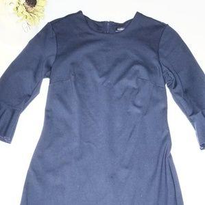 Banana Republic long sleeve navy dress